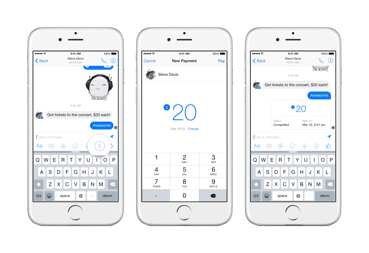Facebook déploie son moyen de paiement via Messenger